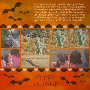 First Halloween Layout