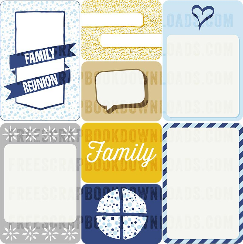 Family Reunion Journal Cards