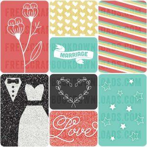 Free Wedding Journal Cards