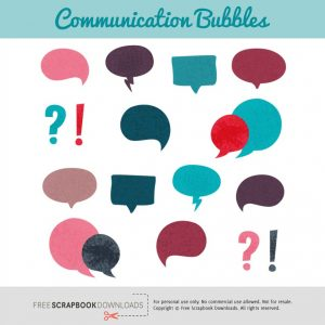 Word Bubble Embellishments