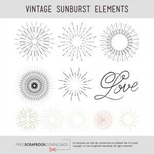 Scrapbook Sunburst Embellishments