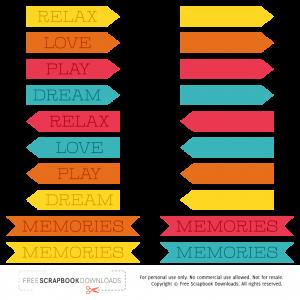 digital scrapbooking labels