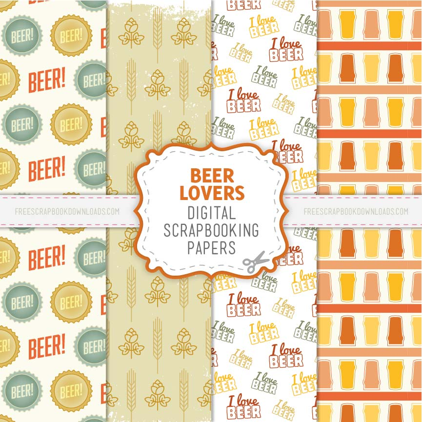 Beer Scrapbook papers