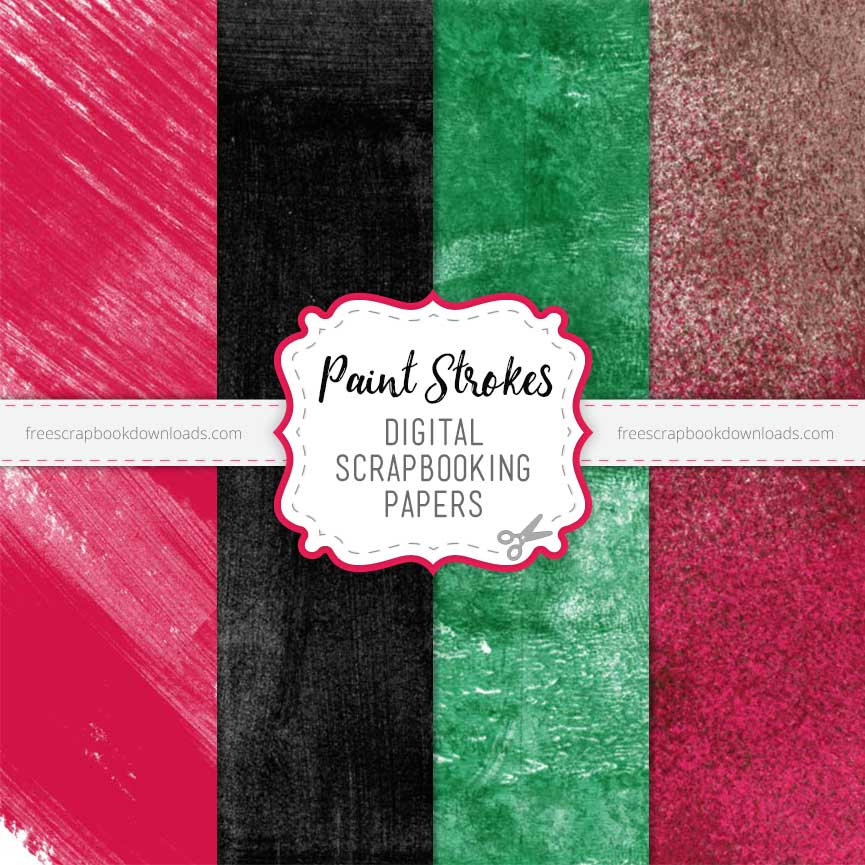 painted scrapbook papers set