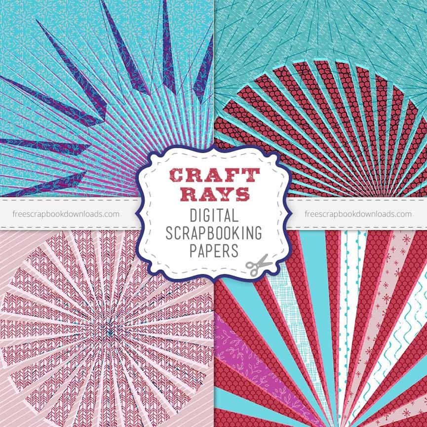 Crafty Digital Scrapbook Papers