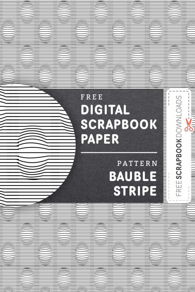 Bauble Stripe Scrapbook Paper