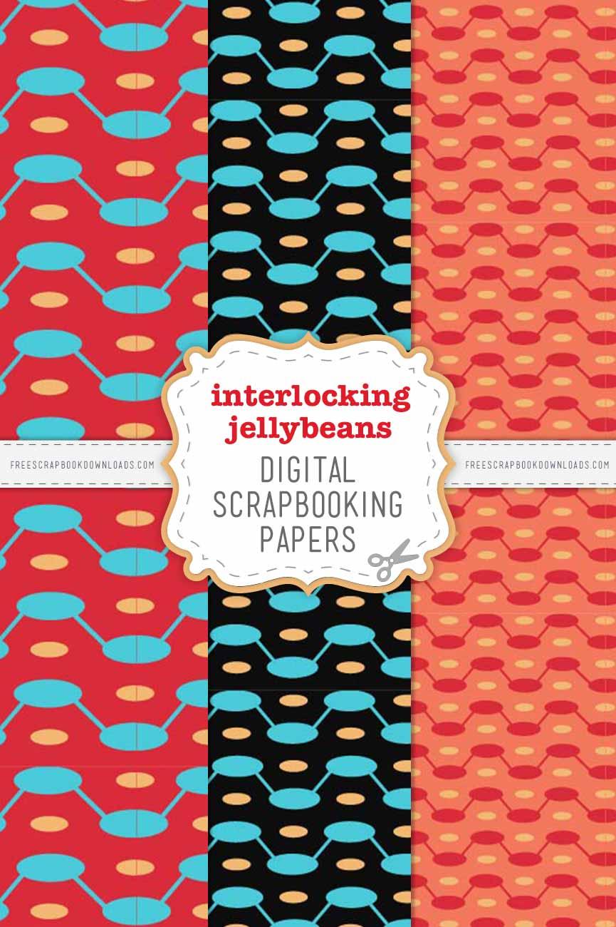Interlocking Jellybeans Scrapbook Papers