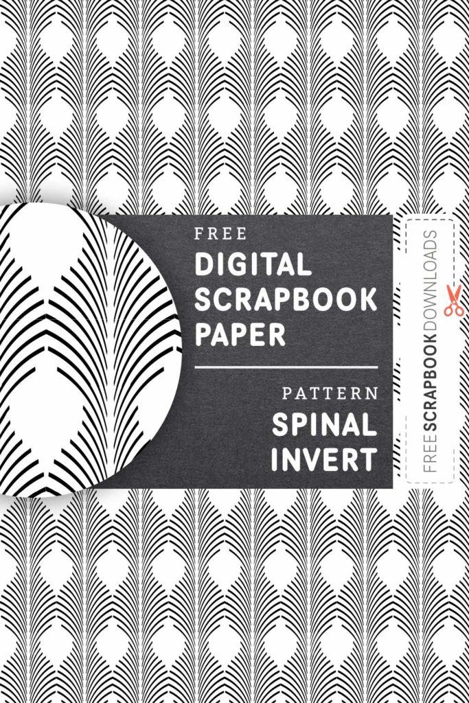 Spinal Invert Scrapbooking Paper