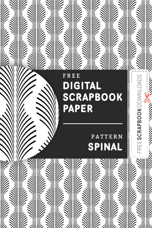 Spinal Digital Scrapbook Paper