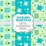 Ocean Sketch Scrapbook Papers