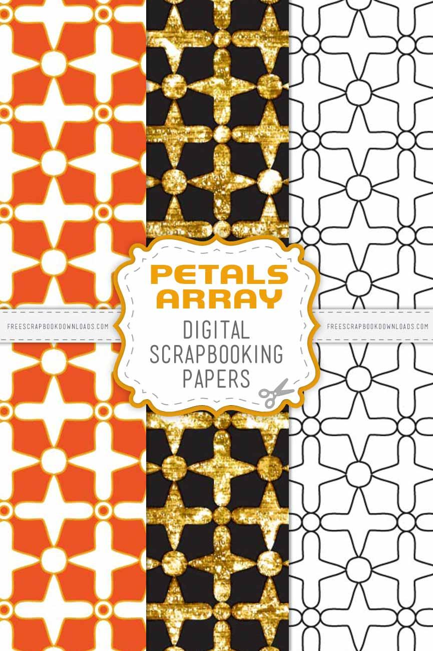 Petals Array Scrapbook Papers