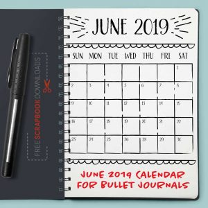 June 2019 Bullet Journal Calendar