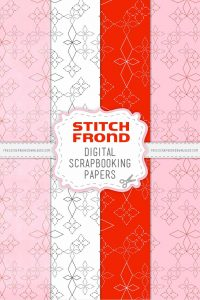 Stitch Frond digital scrapbook Papers