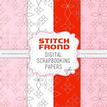 Stitch Frond digital scrapbook Papers