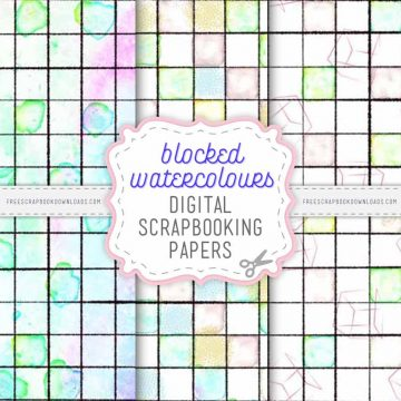 Blocked Watercolour Scrapbook Papers