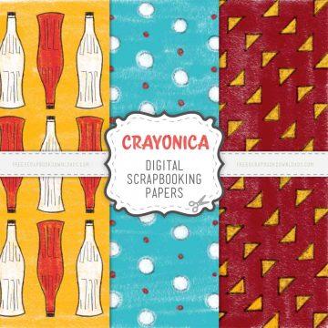 Crayonica Digital Scrapbook Papers