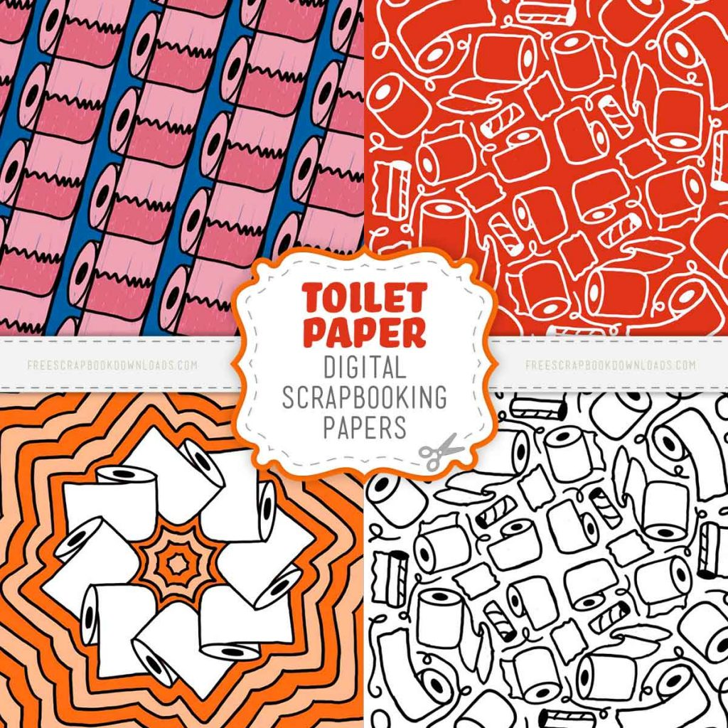 Toilet paper scrapbook papers