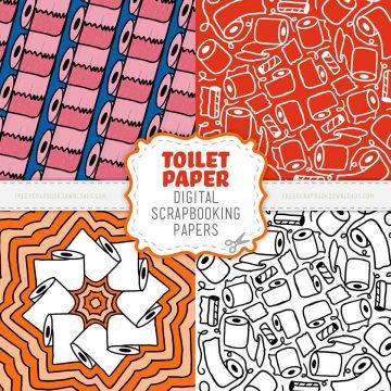 Toilet paper scrapbook papers
