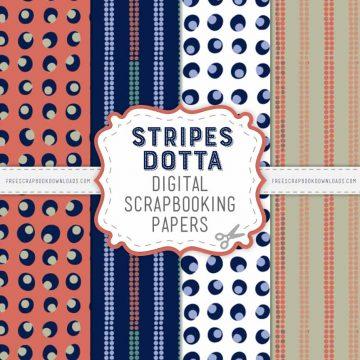 Stripes Dotta Scarpbook Papers