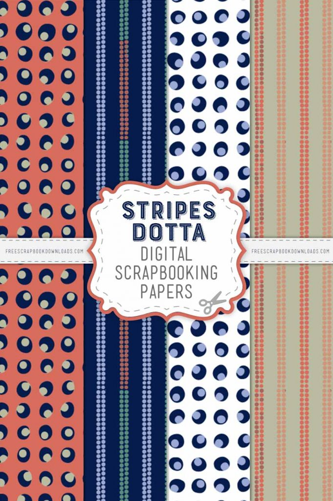 Stripes Dotta Scarpbook Papers