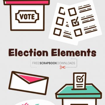 Election Scrapbooking Elements