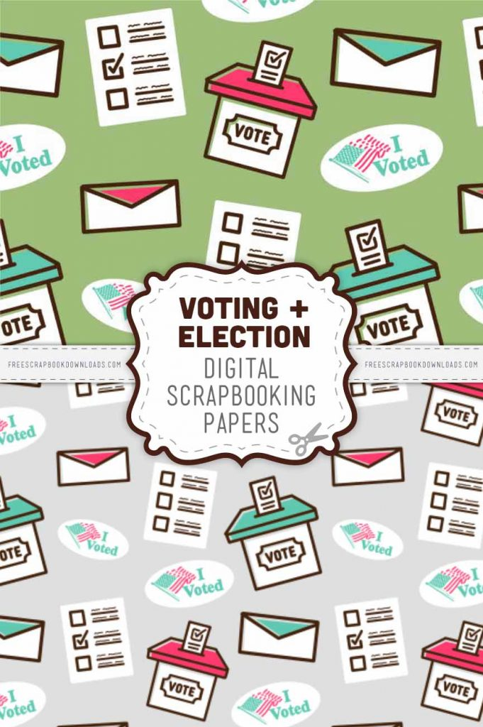 Election and Voting Scrapbook Papers