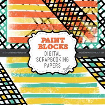 Paint Blocks Scrapbook Papers