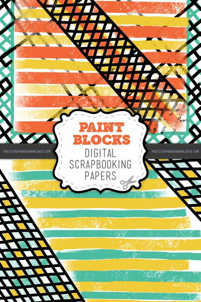 Paint Blocks Scrapbook Papers