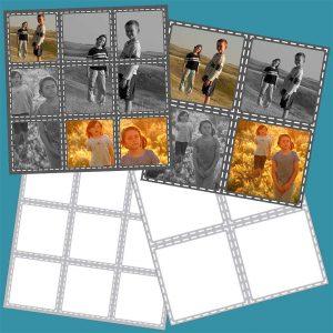 Simple Square Scrapbook Template