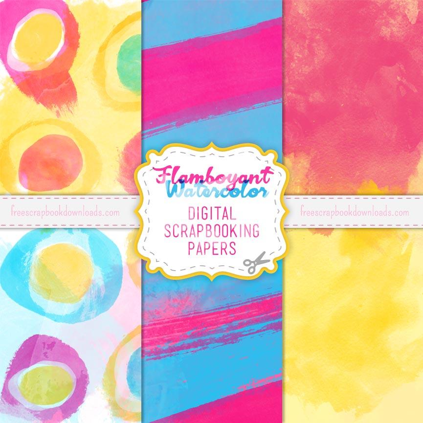 Flamboyant Watercolor Papers