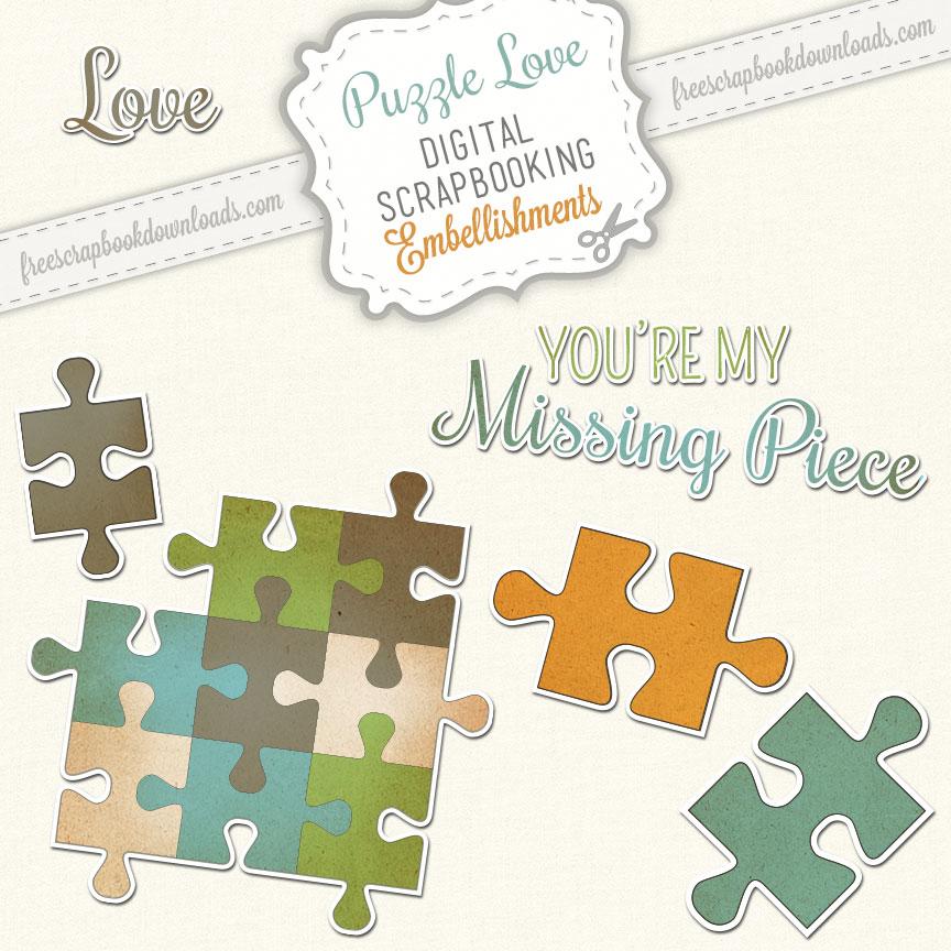 Puzzle Love Embellishments Thumbnail