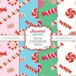 Candy Digital Scrapbook Paper