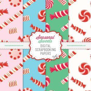 Candy Digital Scrapbook Paper