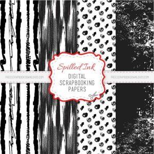 black and white scrapbook paper