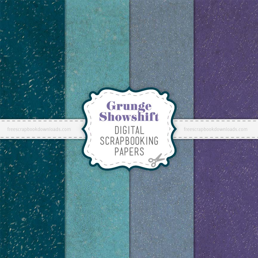 Weathered Grunge Scrapbook Papers