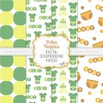 Diaper Scrapbook Papers