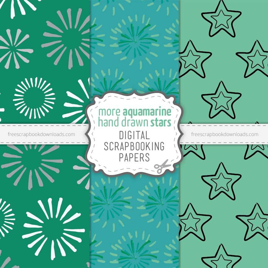 Aquamarine Digital Papers