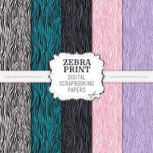 Zebra Print Scrapbook Papers
