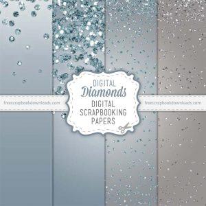 Diamonds Scrapbook Papers