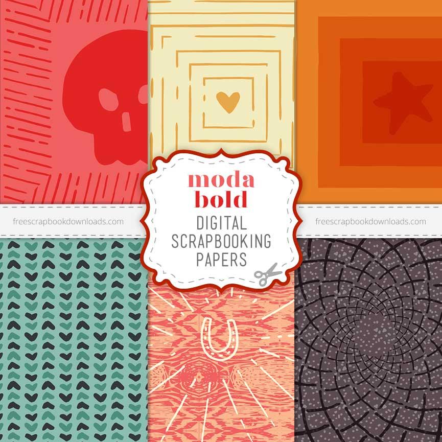 Moda Bold free digital scrapbook pages