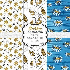 Golden Seasons Scrapbook Paper