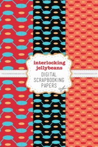 Interlocking Jellybeans Scrapbook Papers