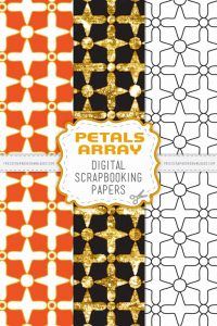 Petals Array Scrapbook Papers