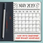 May 2019 Bullet Journal Calendar