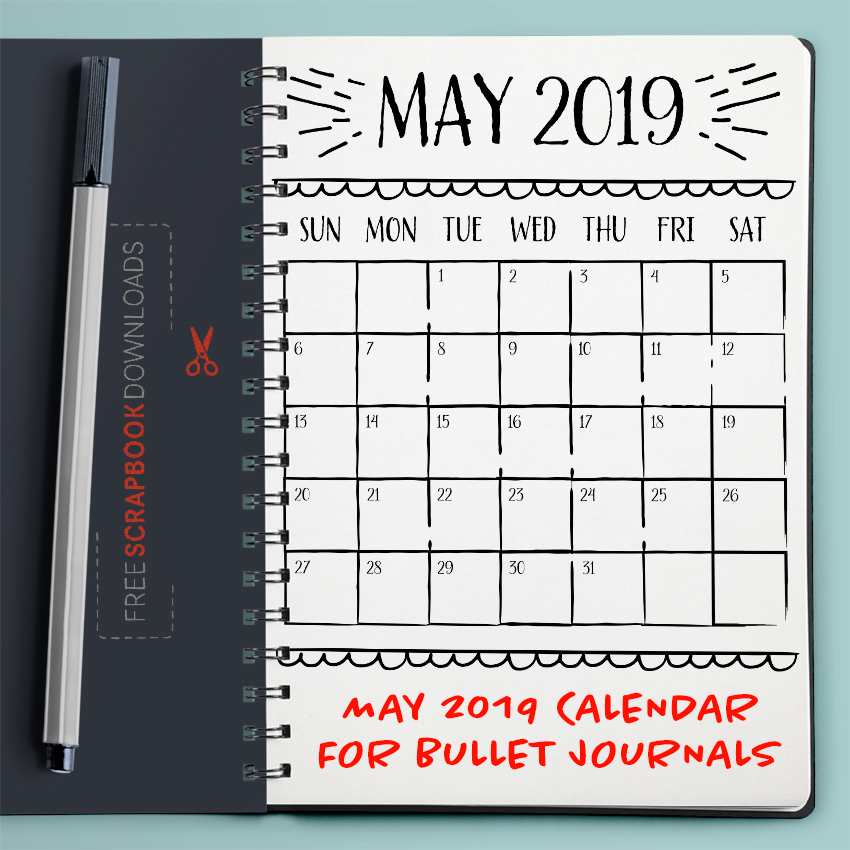 May 2019 Bullet Journal Calendar