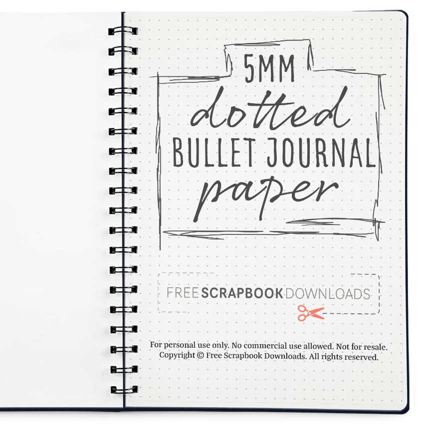 5mm Dotted Bullet Journal Paper