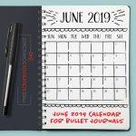 June 2019 Bullet Journal Calendar
