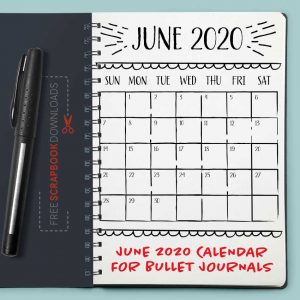 June 2020 Bullet Journal Calendar