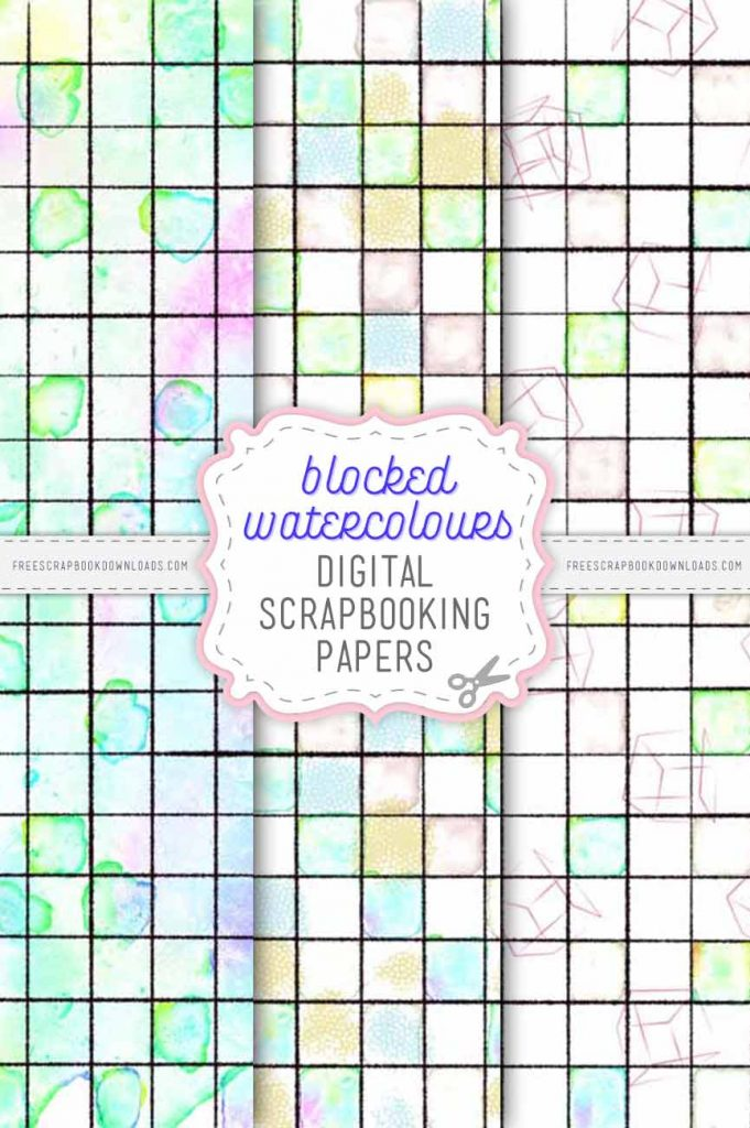 Blocked Watercolour Scrapbook Papers