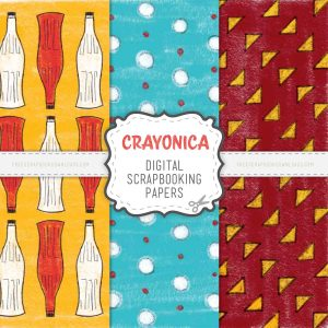 Crayonica Digital Scrapbook Papers